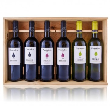 Caja madera Plantadeta 6 botellas