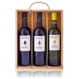 Caja madera Plantadeta 3 botellas